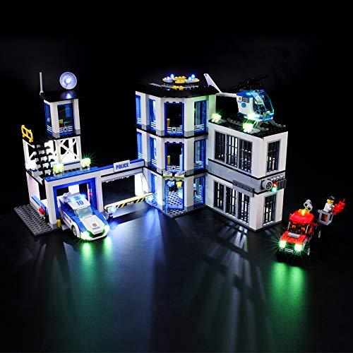 BRIKSMAX Kit de Iluminación Led para Lego City Comisaría de policía, Compatible con Ladrillos de Construcción Lego Modelo 60141, Juego de Legos no Incluido