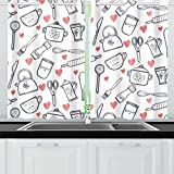 HYTCSY Window Curtain Door Kitchen Cooking Equipment Room Darkening Grommet Curtains Mens Blackout Curtains for Cafe Bath Laundry Living Room 26x39inch 2pieces
