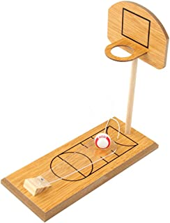 LIOOBO Wooden Basketball Shooting Game Desktop Table Basketball Games Funny Sports Toy Mini Finger Basketball Set for Parent-Child Interactive Props