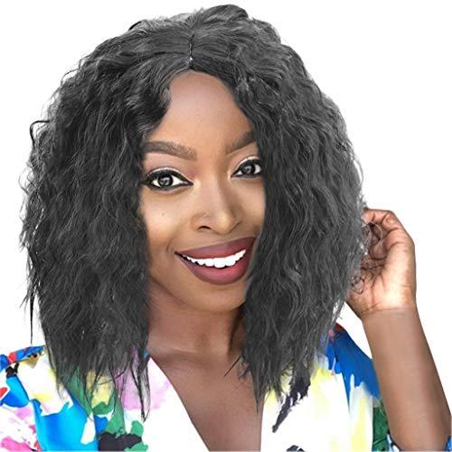 Perruque Complète en Filet de Cheveux de Brésilienne Bob Wave Noir Femmes Naturelles Perruques Tresse Africaine afro noire Femme