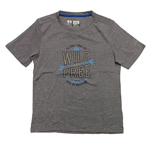 McKinley kinderen wandelen vrije tijd functioneel T-shirt TICO met UV-bescherming grijs