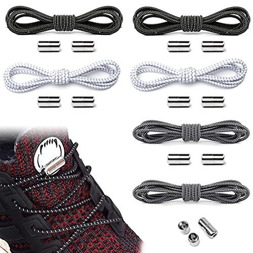 6 Paia Lacci per Sneaker ,Scarpe Casual Lacci,Bambini Stringhe Elastiche per Scarpe,Lacci Elastici per Scarpe Stringhe ,Lacci Robuste e Resistent,Lacci per scarpe,Elastici Lacci Delle (6 Paia)