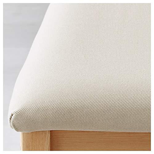 BestOnlineDeals01 LERHAMN Stuhl, hell antik gebeizt, Ramna Beige, 42x49x85 cm, langlebig und pflegeleicht Polsterstühle Esszimmerstühle Stühle Möbel Umweltfreundlich.