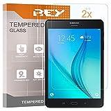 REY 2X Protector de Pantalla para Samsung Galaxy Tab S3 9.7' WiFi, Cristal Vidrio Templado Premium, Táblet