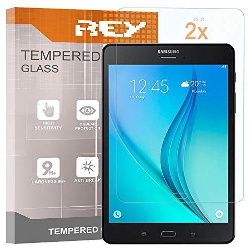 REY Pack 2X Panzerglas Schutzfolie für Samsung Galaxy TAB S3 9.7