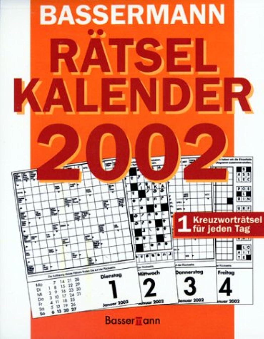 審判時代遅れ少しBassermann Raetsel- Kalender 2002. Abreiss- Kalender