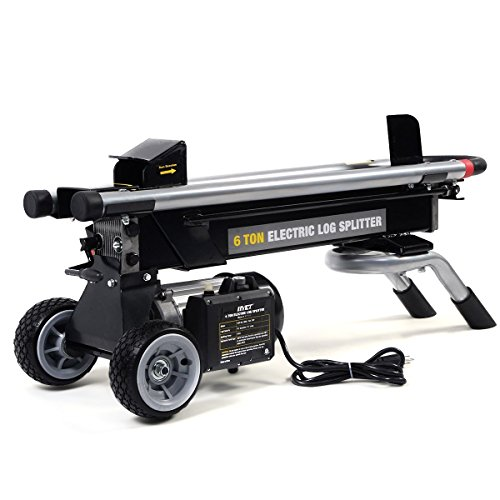 Goplus 6 Ton Hydraulic Electric Log Splitter Powerful Portable Wood Cutter with Mobile Wheels, 1500W 2HP