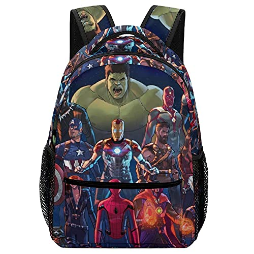 Avenger Hulk Iron Man Groot Children's Schoolbags, High-Capacity Backpacks For Primary And Middle School Students Ultra-Lightweight And Multi-Compartment