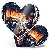 Impresionante pegatinas de corazón de 7,5 cm – Calcetines, divertidos calcetines de invierno para portátiles, tabletas, equipaje, reserva de chatarras, neveras, regalo genial #3974