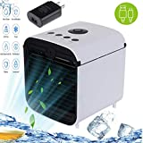 Personal Evaporative Air Cooler,Portable Air Conditioner 3in1,Adocfan personal air conditioner with 3 Speeds and 7 Colors LED Night Light for Office Household Outdoors…