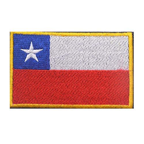 ShowPlus Militär bestickter Aufnäher mit Chile CL Flagge