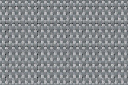 (17,99€/m2)Balkonverkleidung Sichtschutz Meterware Balkonsichtschutz Polyrattan Balkonbespannung RD17-silber Grey110