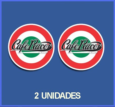 Ecoshirt J7-O0A5-QIC7 Pegatinas Stickers Cafe Racer Ref: Dp45 Aufkleber Autocollants Adesivi Moto Decals Motrocycle, 15 cm