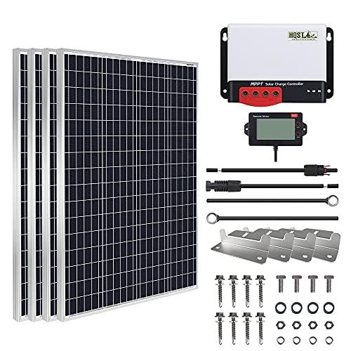 HQST 400W Solar Panel Kit 12V Monocrystalline...