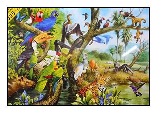 N / A James Hamilton 1500 T. Puzzle 86 x 60 cm Leopard Parrot Macaw Toucan Bird Woodpecker Monkey Skunk Mato Grosso 1507