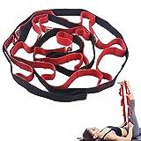 Uponer Cinghia di Yoga Non Elastico con 12 Passanti per Bambini e Adulti per Pilates, Stretching, Fitness, Ginnastica,Sport, Terapia Fisica e Recupero,Allenamento Fitness