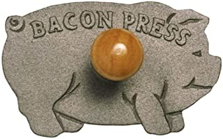 Norpro Cast Iron Pig Shaped Bacon Press with Wood Handle