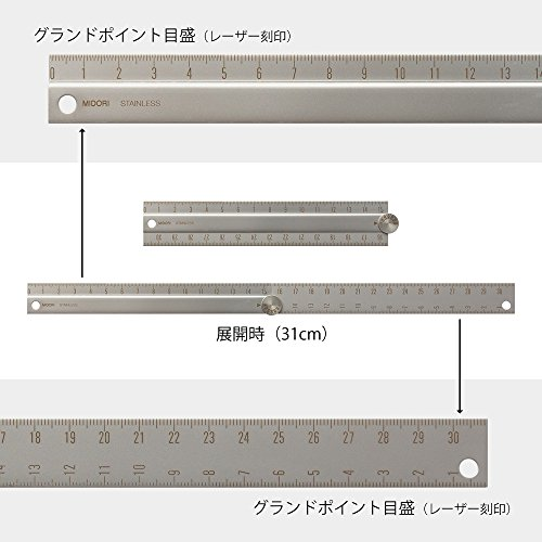 『ミドリ 定規 ステンレス マルチ定規 31cm A 42275006』の3枚目の画像