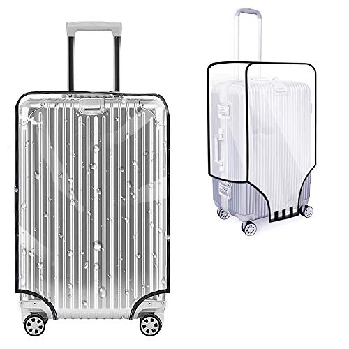 28Inch Clear PVC Suitcase Cover, Luggage Protector Case, Waterproof Suitcase Cover, Trolley Case Protective Cover, Clear PVC Scratchproof Case Covers for Suitcases, Travel Luggage (Transparent)