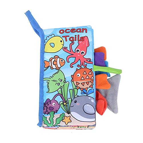 Zwinner Libro de Tela Educativo, Libro de Tela, Tela de Alta Densidad para bebés Que juegan a casa(Ocean)