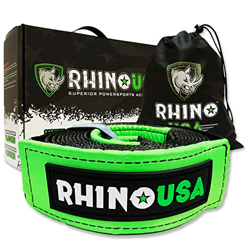 Rhino USA Recovery Tow Strap 3' x 20ft - Lab...