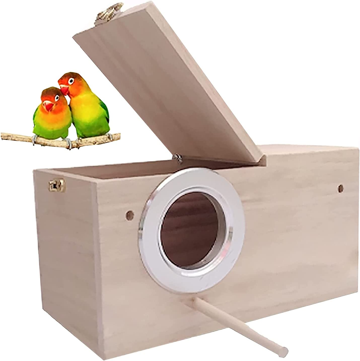 Las Vegas Mall HANG Parakeet Nest Beauty products Box Bird cage Natural Ne with Pine Wood