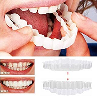 Braces Cosmetic Snap On Instant Perfect Smile Comfort Fit Flex Teeth Veneers - Denture For Top and Bottom Teeth to Make White Tooth Beautiful Neat