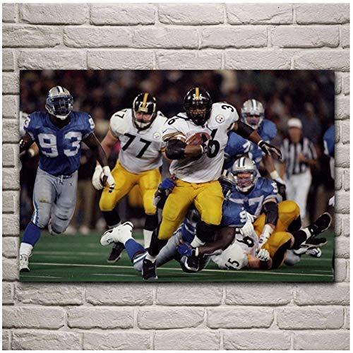 suuyar Sport American Football Spielfeld Fantasie Wohnzimmer Dekoration Home Art DekorPoster Druck auf Leinwand-60x100cm No Frame