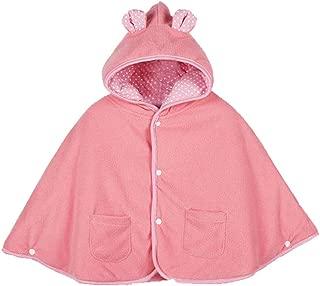 mikistory Baby Girls Double Side Wear Cloak Winter Autumn Hoodie Fleece 0-3Years
