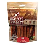 Natural Farm 6-Inch Pixie Bully Sticks for Dogs (30 Pack) | Lighter | Thin Treats | One Ingredient | Truly Grass-Fed, Grain-Free Beef | Fully Digestible Chews | Great for Puppies and Senior Dogs