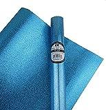 Best Creation Glitter Gift Wrap, 30 x 36-Inch, Sky Blue