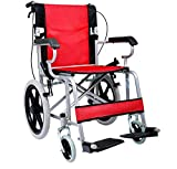 Comfy Go Wheelchair Red - Foldable Lightweight Manual...