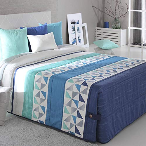 Reig Marti - Edredón Conforter Wang 02 - Cama 150 Cm - Color Azul C03