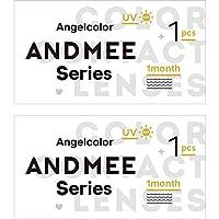 エンジェルカラー アンドミー AngelColor AND MEE 1month マンスリー 【カラー】オーシャン 【PWR】-5.00 1枚入 2箱