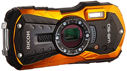 Ricoh WG-50 16MP Waterproof Still/Video Camera Digital with 2.7' LCD, (Orange)