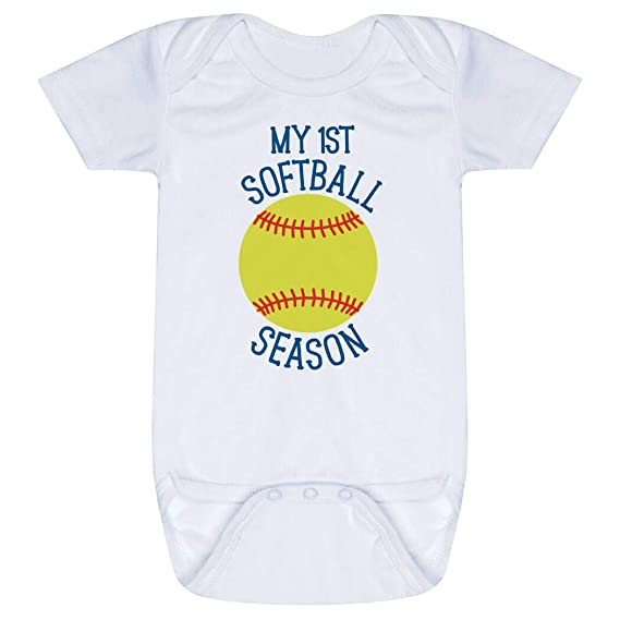 Newborn Love Softball Bodysuits as picture18 Months