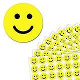 2,5cm Gelb Glücklich Gesicht Smiley Aufkleber - 1200 Stück