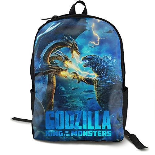 Godzilla King of Monsters 3d Print School Bag Backpack Sports Backpack Blue