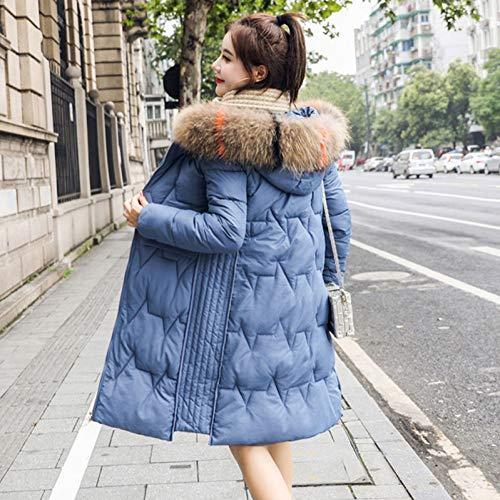 GDRFHJZ Winter Jacket Vrouwen Parka Bovenkleding Vrouwelijke Down Katoen Jas Met Nep Bont Kraag Dikke Warm Lange Vrouwen Winterjas