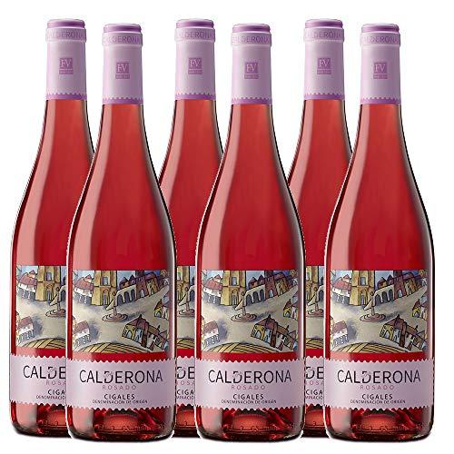 6 botellas vino rosado Viña Calderona