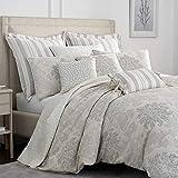 Croscill Comforter, Cotton, Grey, Queen