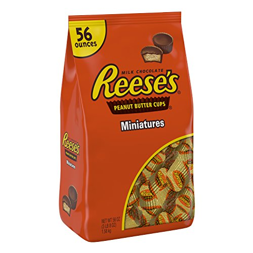 REESE'S Chocolate Candy, Peanut Butter Cups Miniatures, 56 Ounce Bag