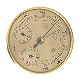 Homoyoyo Barómetro de Latón con Higrómetro Y 3 en 1 Tipo de Dial Barómetro Presión Estación Meteorológica Monitor de Temperatura Analógica