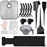 33PCS Hair Dye Brush and Bowl Set, Hair Dye Coloring Kit with Hair Tinting Bowl,Dye Brush,Ear...