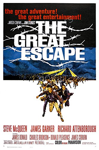 MCPosters The Great Escape GLOSSY FINISH Movie Poster - MCP225 (24' x 36' (61cm x 91.5cm))