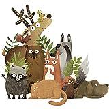Pegatina animales del bosque otoño para paredes cristal .habitaciones niños salas lectura cabecero tiendas caravanas guarderias consultas infantiles de CHIPYHOME