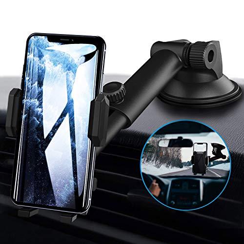 Soporte teléfono celular para salpicadero de coche o parabrisas, EXSHOW soporte...