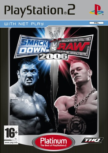 WWE SmackDown vs RAW 2006 Platinum (PS2) - Very Good Condition