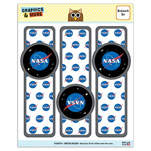 NASA Official Meatball Logo Set of 3 Glossy Laminated Bookmarks
