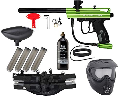 Action Village Kingman Spyder Epic Paintball Gun Package Kit (Victor) (Slime)